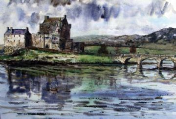 Eilean Donan Castle Watercolour Painting